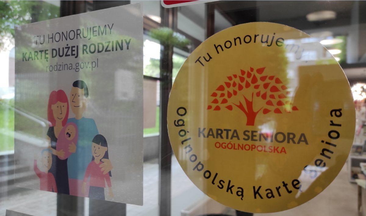 Jesteśmy Partnerem Karty Dużej Rodziny i Karty Seniora!